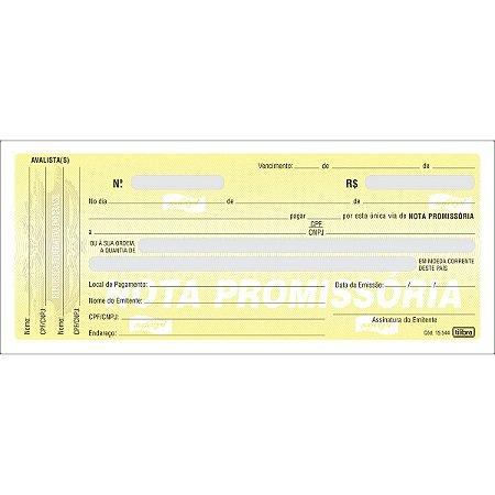 Nota Promissória Mini 50fls 147mmx63mm - Tilibra