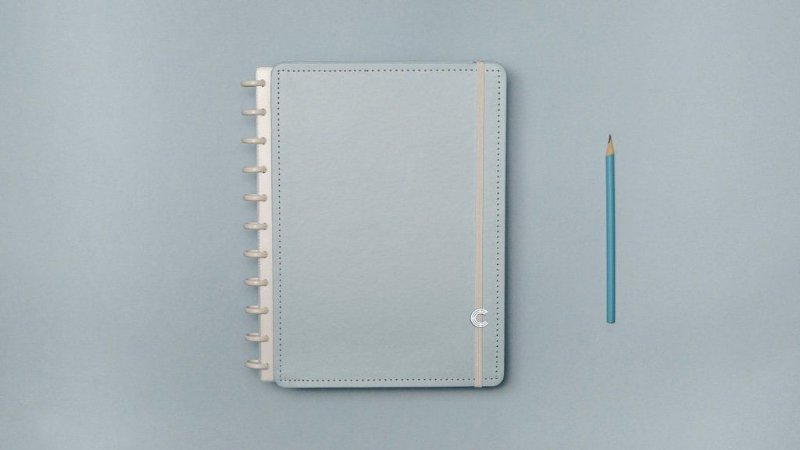 Caderno Azul Pastel - Medio - Caderno inteligente