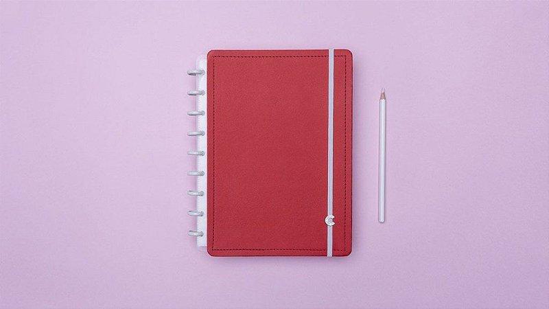 Caderno Vermelho Cereja Médio - Caderno Inteligente