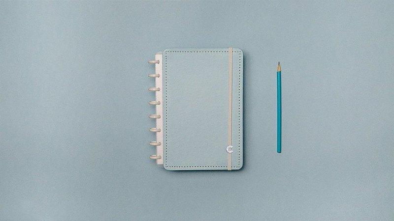 Caderno Azul Pastel - A5 - Caderno inteligente