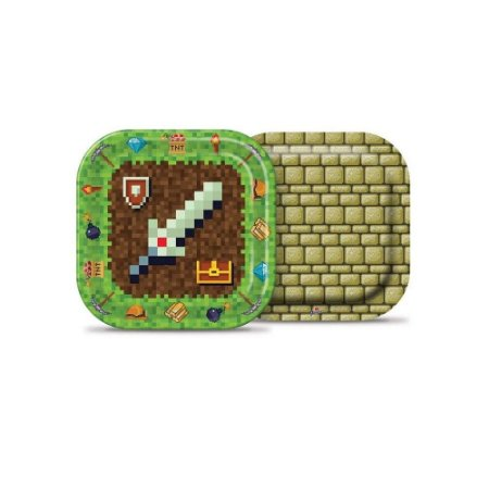 Prato Descartavel Mini Pixels -Junco
