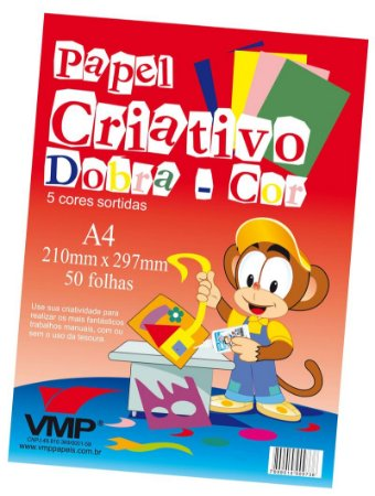 Papel Criativo Dobracor A4 50fl