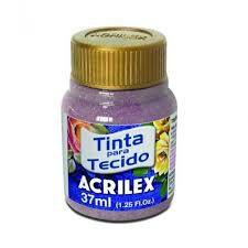 Tinta Tecido Glitter Rose 37ml - Acrilex