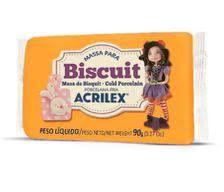 Massa Para Biscuit Amarelo Ouro 90g - Acrilex