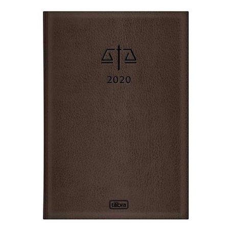 Agenda Costurada Advogado 2020 Marrom - Tilibra