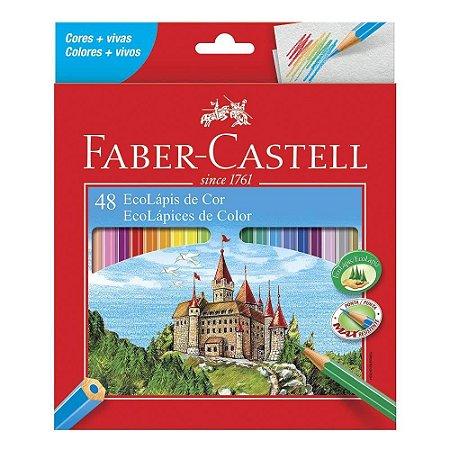 Lápis de Cor Sextavado 48 Cores - Faber-Castell