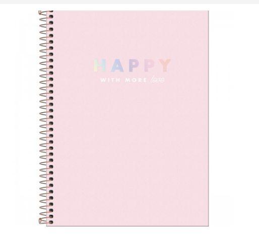 Caderno Universitário 12 Matérias 192 Folhas Happy  - Tilibra