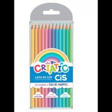 Lápis De Cor Criatic Pastel  12 Cores - Cis