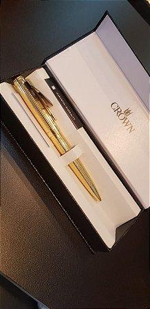 Caneta Esferográfica Supreme Dourada-Crown