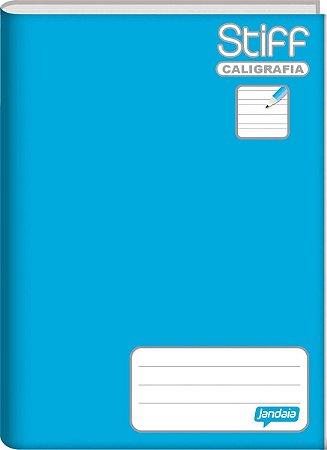 Caderno Caligrafia Capa Dura Azul 96f - Jandaia