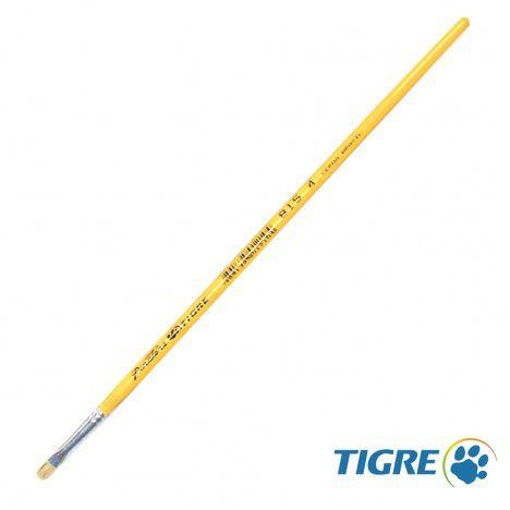 Pincel Chato Reto 815-04 - Tigre