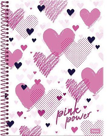 Caderno Colegial Pink Power - Foroni