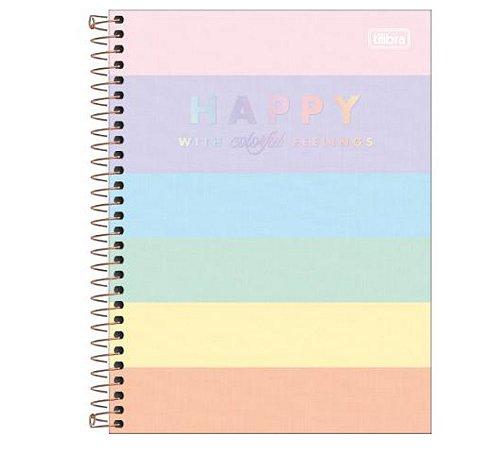 Caderno Colegial Happy Color 10 Matérias - Tilibra