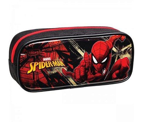 Estojo G Duplo Spider Man - Tilibra