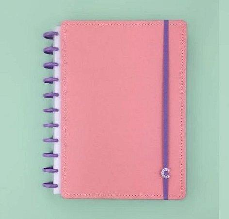 Caderno Rosé Pastel Grande+ - Caderno Inteligente