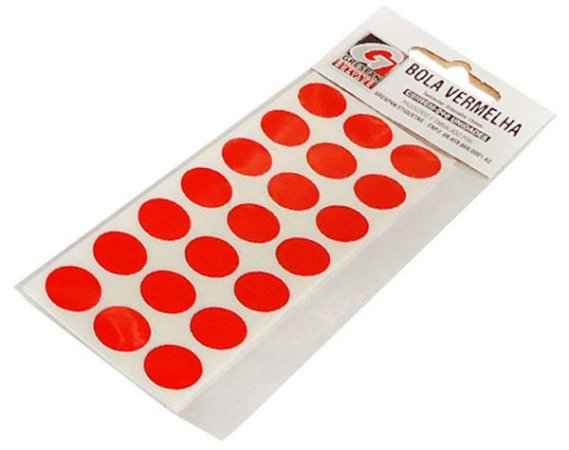 Etiqueta Redonda Vermelha - Grespan