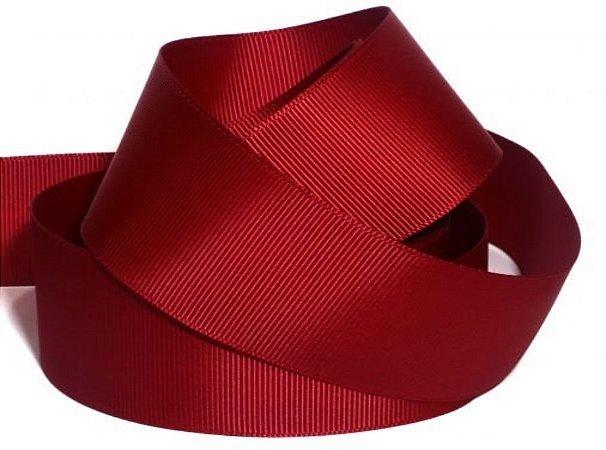 Fita Gorgurão Liso Vermelho-Cromus