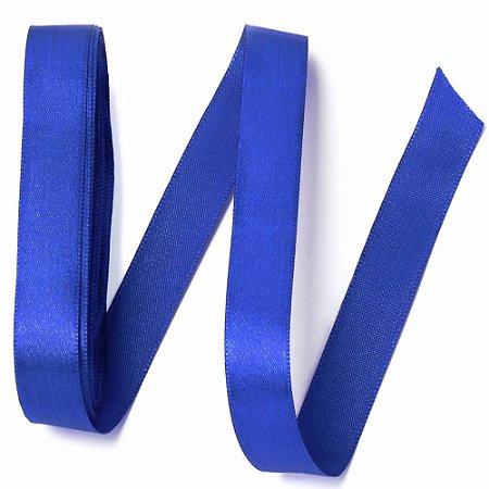 Fita Cetim Liso Azul Royal-Cromus