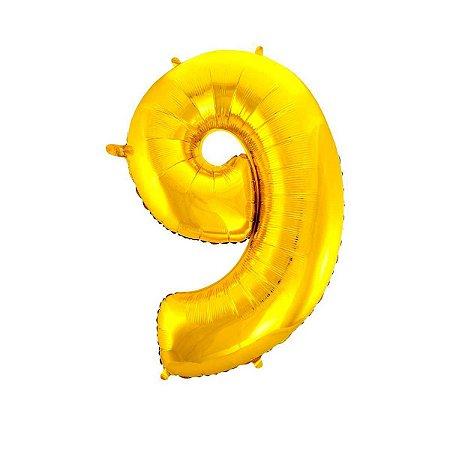 Balão Metalizado Ouro N° 9 - VMP