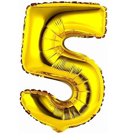 Balão Metalizado Ouro N° 5 - VMP