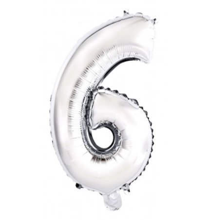 Balão Metalizado Prata N° 6 - VMP
