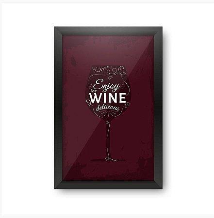 Quadro Porta Rolhas Delicious Wine - Beek