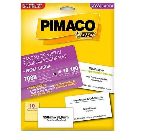 Cartão De Visita 50,8mmX88,9mm - Pimaco