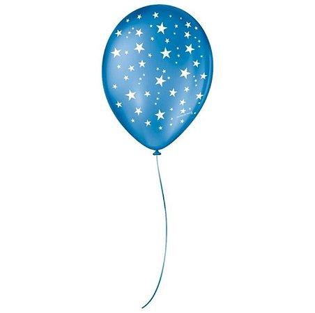 Balão Sortidos Estrela Azul N° 9 - São Roque