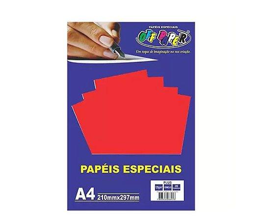 Papel Plus Vermelho A4 180g - Off Paper