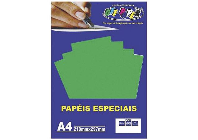 Papel Plus Verde A4 180g - Off Paper