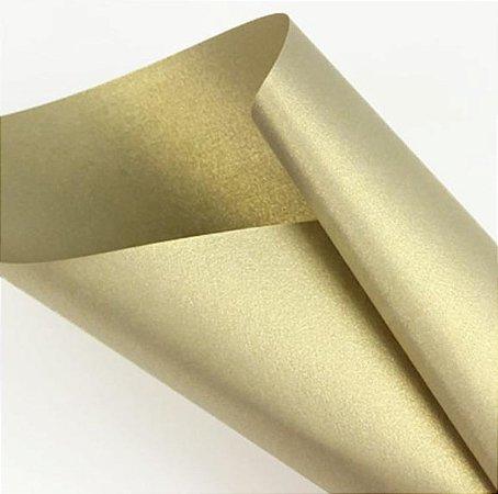 Papel Metalizado Ouro Velho A4 150g - Off Paper