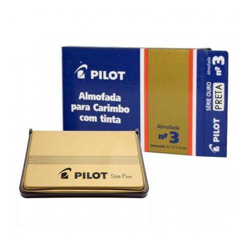 Almofada De Carimbo N°3 Ouro Preta - Pilot