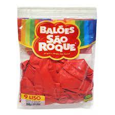 Balão 9 Liso C/50 Vermelho Quente