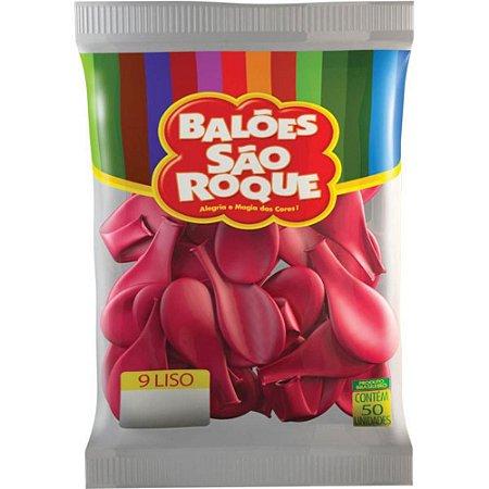Balão 9 Liso C/50 Rosa Pink