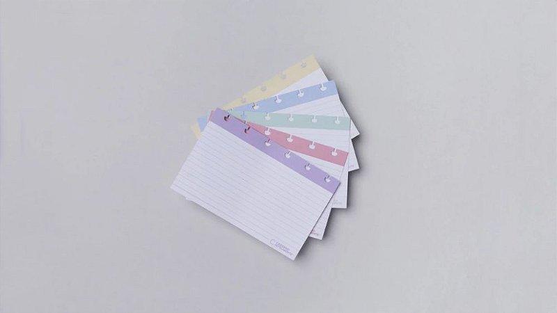 Fichas Pautadas Inteligentes - 4X6-Caderno Inteligente