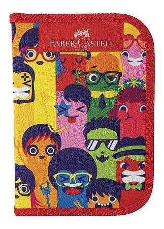 Estojo De Nylon Carinhas - Faber-Castell
