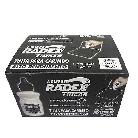 Tinta para Carimbo Preta automático 40 ml -Radex