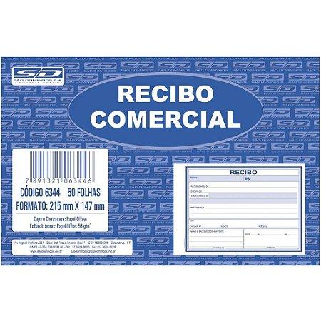 Recibo Comercial 50 folhas - São domingos