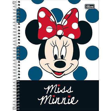 Caderno Universitário Minnie 10 Matérias - Tilibra