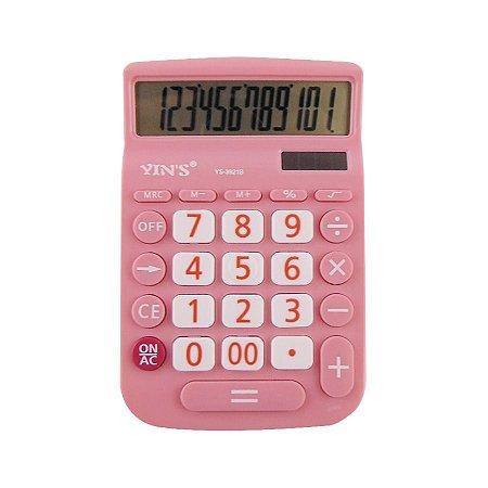 Calculadora Rosa 12 digitos