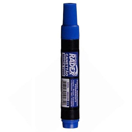Marcador Permanente Ponta Chanfrada Azul - Radex