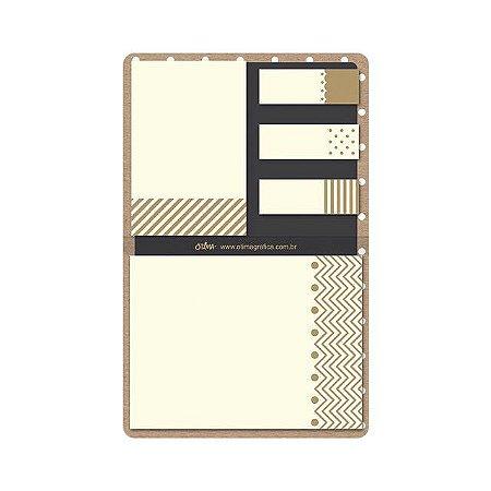 Conjunto De Blocos Sticky Notes Gold&Kraft Pt