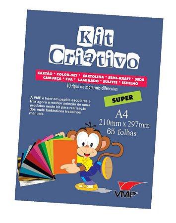 Kit Criativo Super A4 65fls Sortido - Vmp