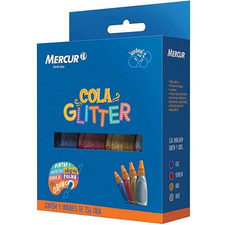 Cola Com Glitter 4 Cores 20g - Mercur