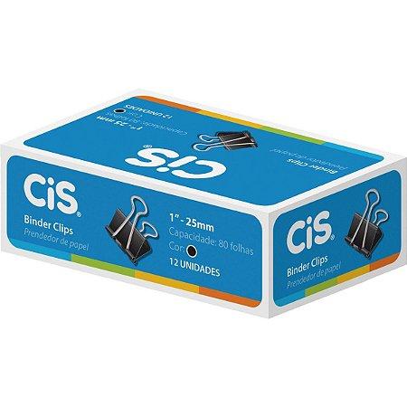Prendedor De Papel Cis 25mm Preto Cx.C/12 - Cis