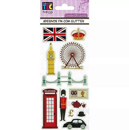 Adesivo Fm Com Glitter 75x200 Inglaterra
