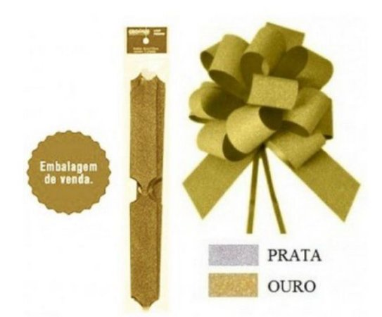 Laco Pronto Glitter Ouro 30mm - Cromus