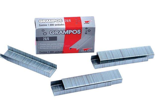Grampo 26/6 C/1000 Un Prata - Vmp
