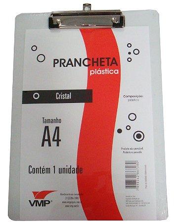 Prancheta Plastica Cristal A4 - Vmp