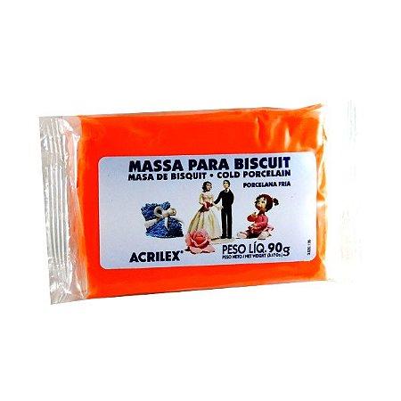 Massa Para Biscuit Laranja 90g - Acrilex
